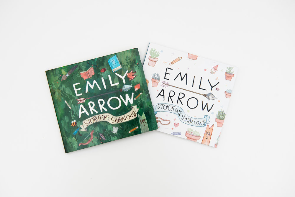 Emily Arrow's 2 albums - all about BOOKS!!