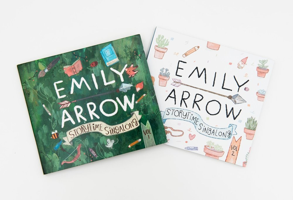 "Emily Arrow's ""Storytime Singalong, Vol. 1 & 2"" - songs about books for kids!"