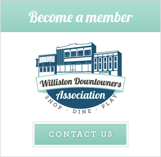 Become a member of the Williston Downtowners Association. Apply here.