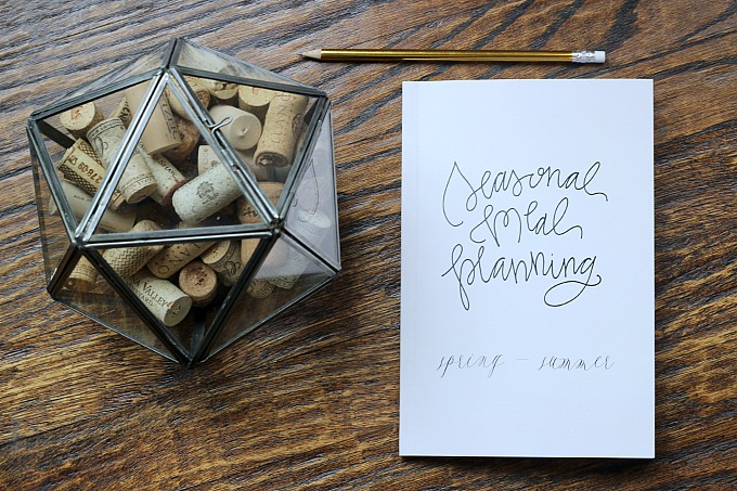 seasonal meal planning journal // natasha red shop