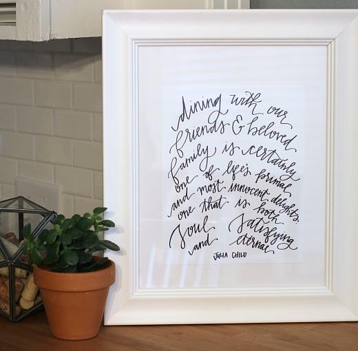 julia child art print // natasha red shop