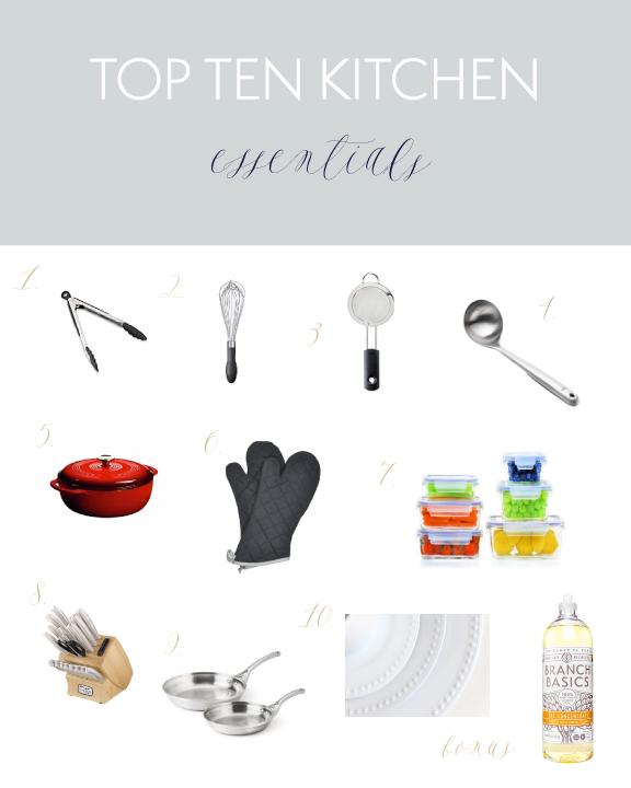 Top Ten Kitchen Essentials // Natasha Red Blog