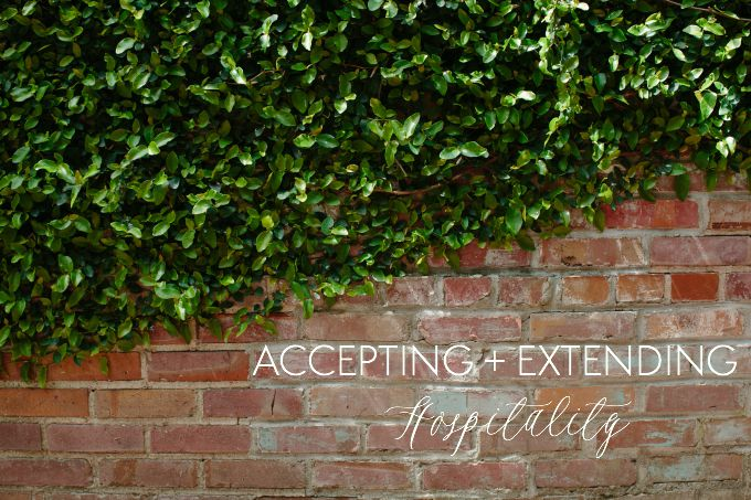 Accpeting and Extending Hospitality // Natasha Red