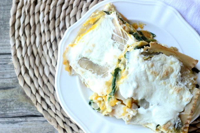 Butternut Squash and Spinach Lasagna... easy seasonal fall meal!