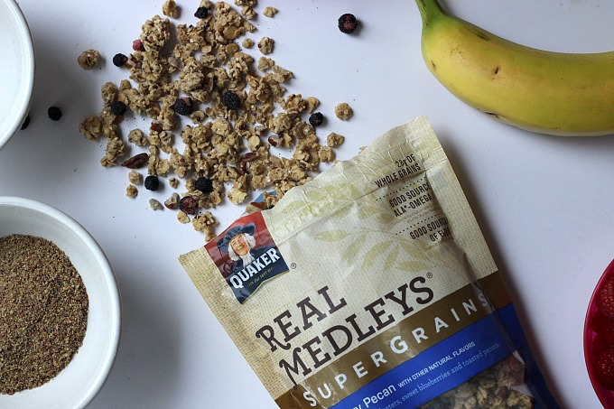 Get in the kitchen with your little ones using Quaker® Real Medleys SuperGrain Granola!