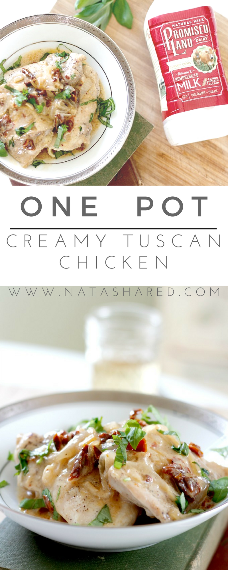 One Pot Creamy Tuscan Chicken a simple and flavorful dish to add to your weeknight menu rotation!