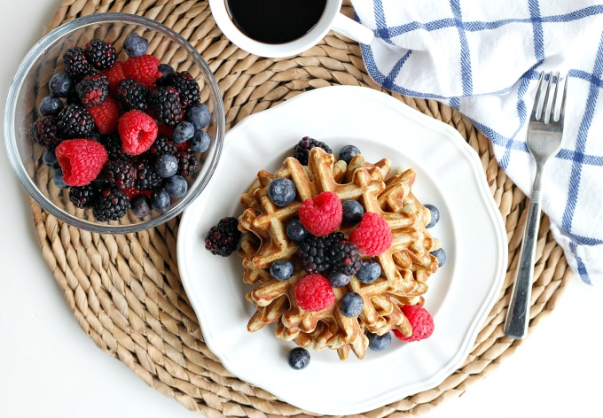 Grain Free Protein Waffles // Natasha Red Blog