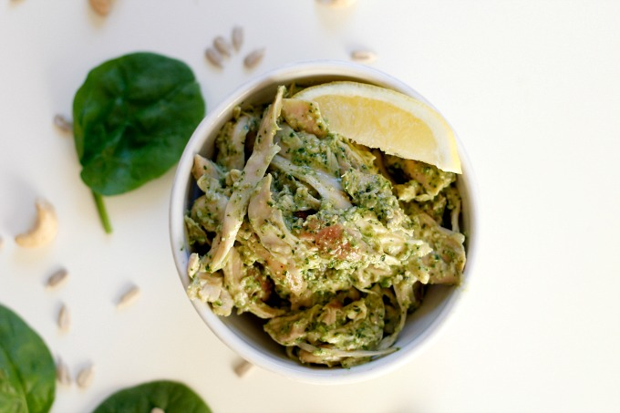 Whole30 Pesto Chicken Salad // Natasha Red