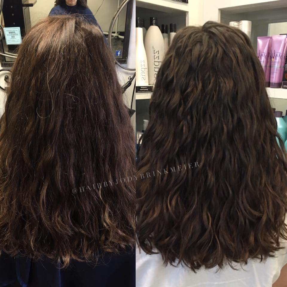 My before and after DevaCut
