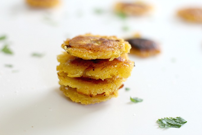 Fried Green Plantains (tostones) // Natasha Red Blog