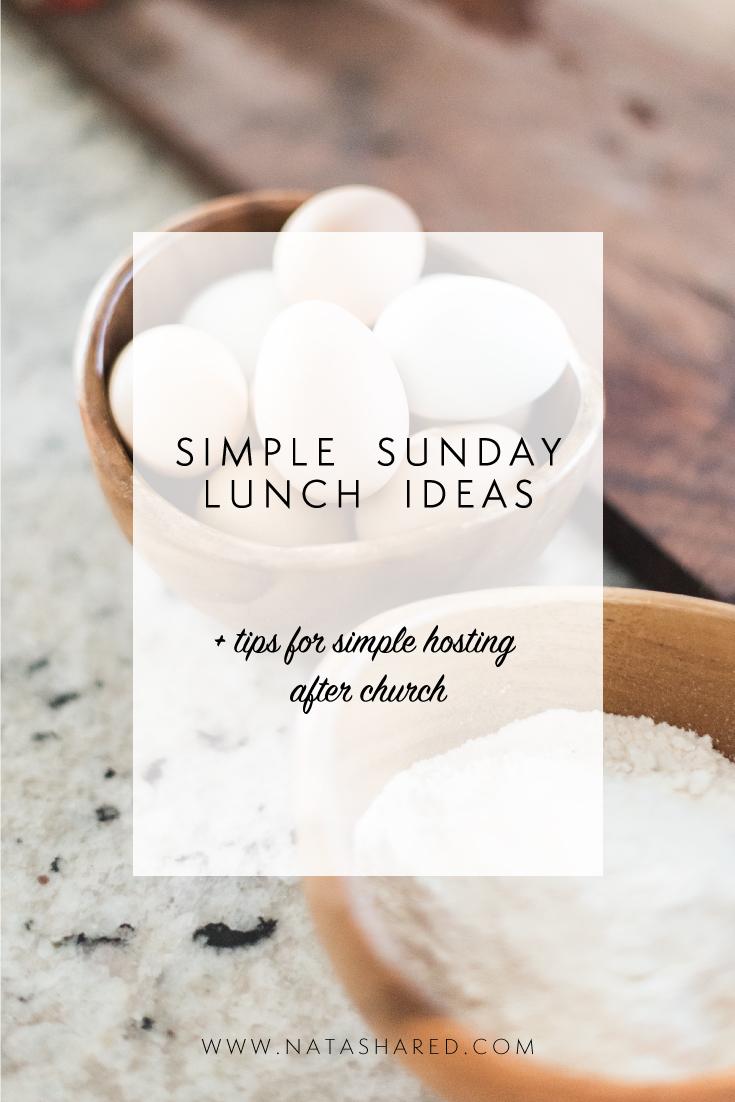 Simple Sunday Lunch Ideas | Sunday Brunch | Sunday Hospitality | Biblical Hospitality
