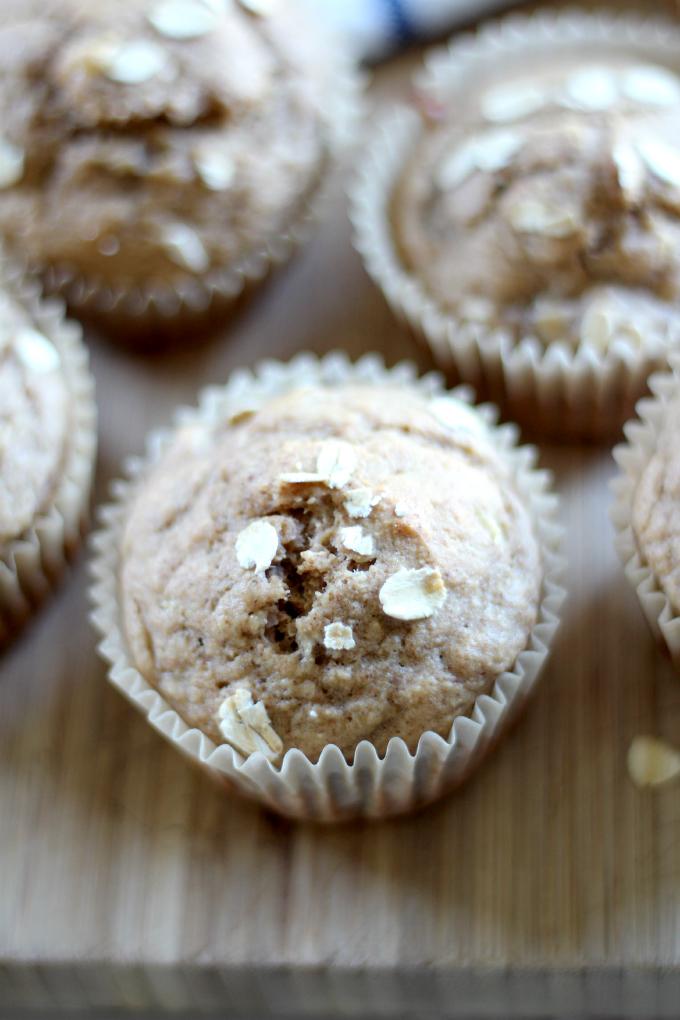 Gluten Free Banana Oat Muffins | quick breakfast | kids snack | gluten free kids