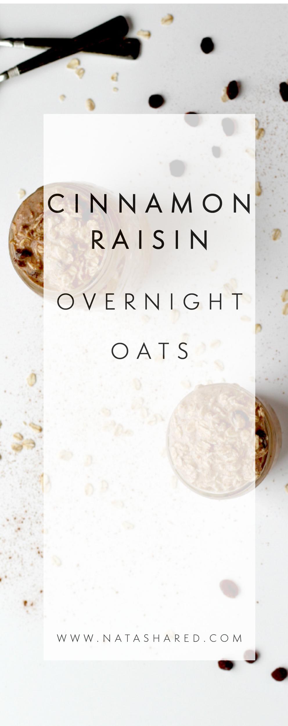 Cinnamon Raisin Overnight Oats | Overnight Oats Club