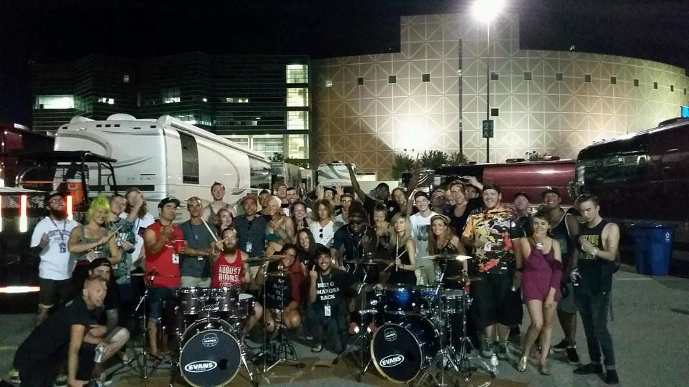 A workshop I taught on Vans Warped Tour in Detroit, Michigan.