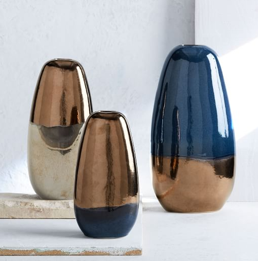 DESIGNING WITH A MODERN COLOR PALETTE, Metallic Vase from West Elm