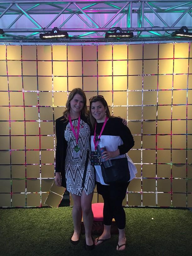 Anna Collis and Dana Parsons attending Startupfest on behalf of Genesis.