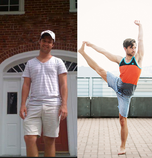 Before and After My Yoga journey at yoga District