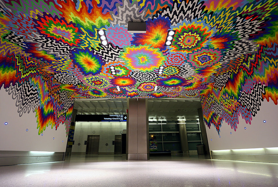 Art Design International : Miami international airport mural — jen stark
