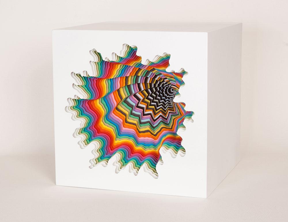 Box 1, 2014, acid-free paper, foamboard, glue, MDF, paint, 10 x 10 x 10.25 in.