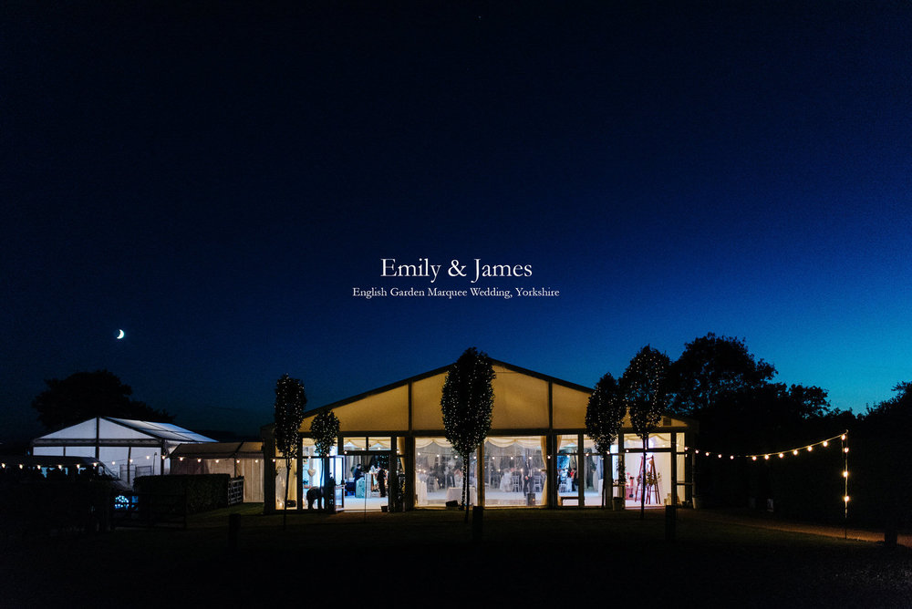 Yorkshire Wedding Photography - Stunning English Garden Marquee Wedding