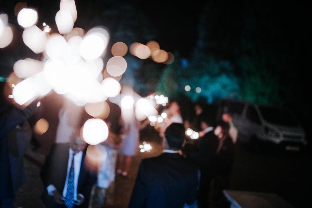 Close-up of sparkler during Woldingham School wedding sparkler e