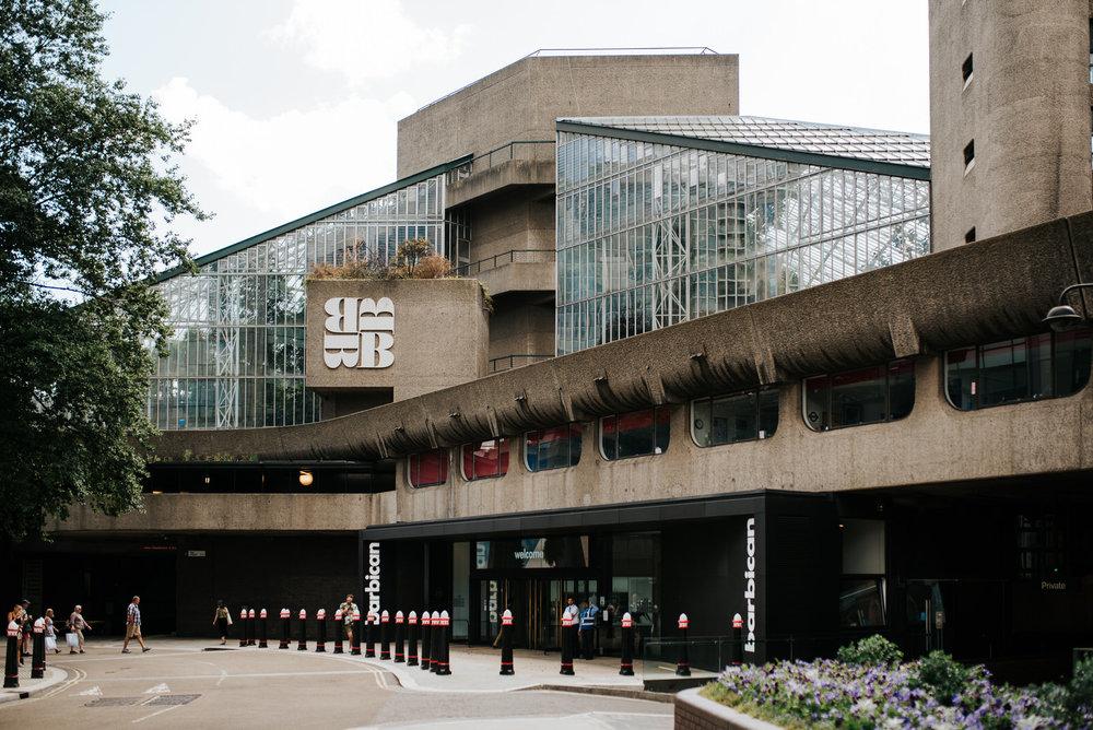 Wide photo of the barbican centre wedding venue