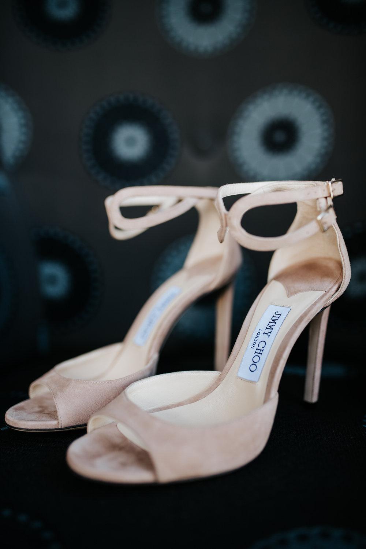 Bride's stunning Jimmy Choo shoes