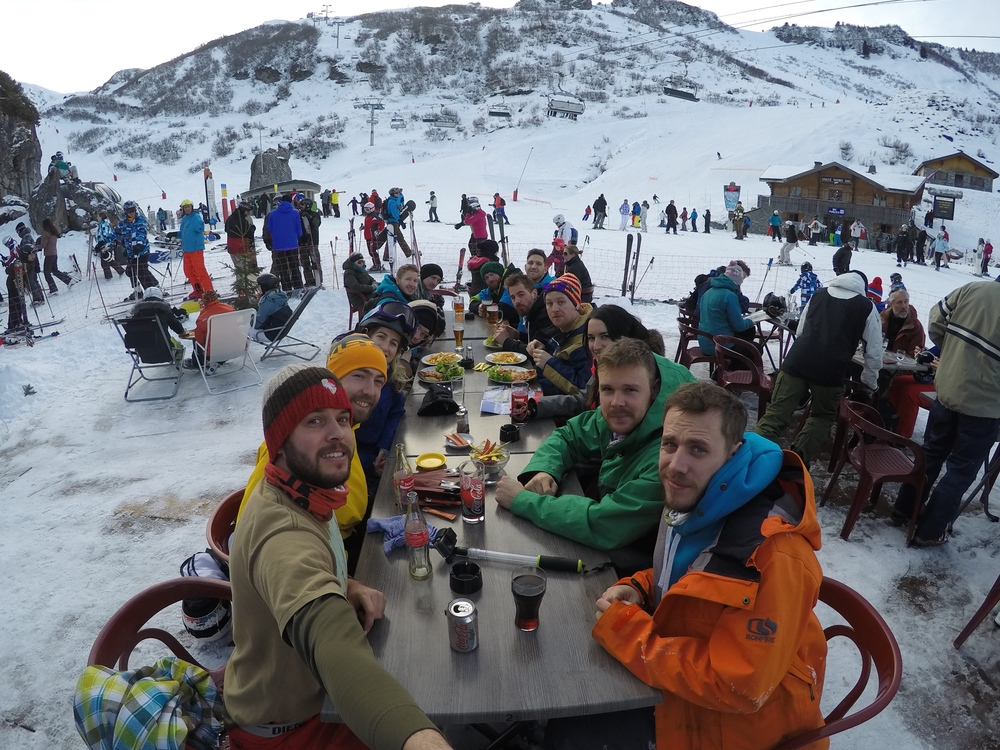 Lunchtime in the Alps.