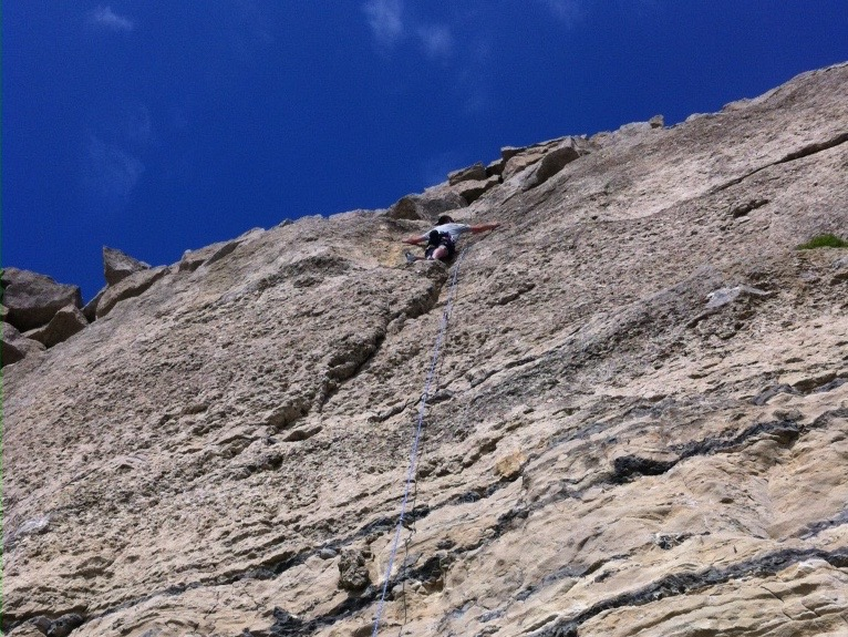 Myself leading a route
