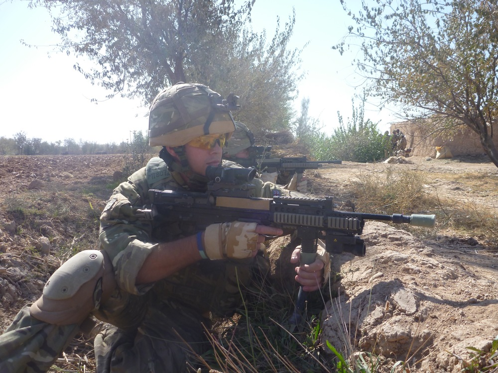 Patrolling the Green Zone, Helmand Province, Afghanistan.