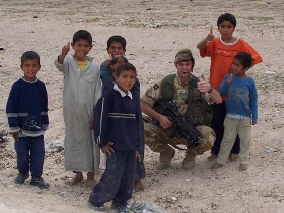Meeting the locals in Iraq.