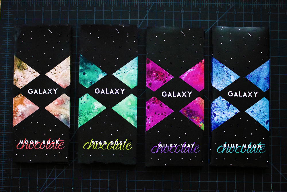 Galaxy chocolate deni ambrose glow in the dark business cards colourmoves