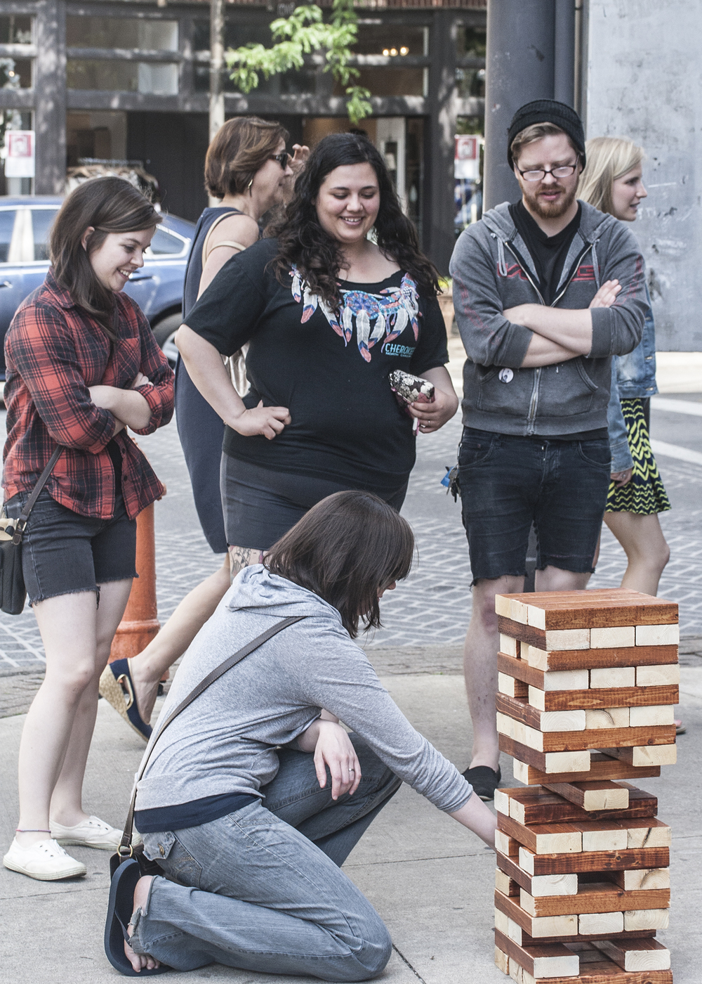 sidewalk jenga by kingmakers board game parlour.