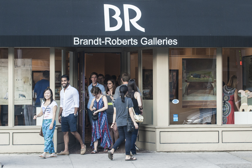 brandt-roberts galleries was packed, fool.