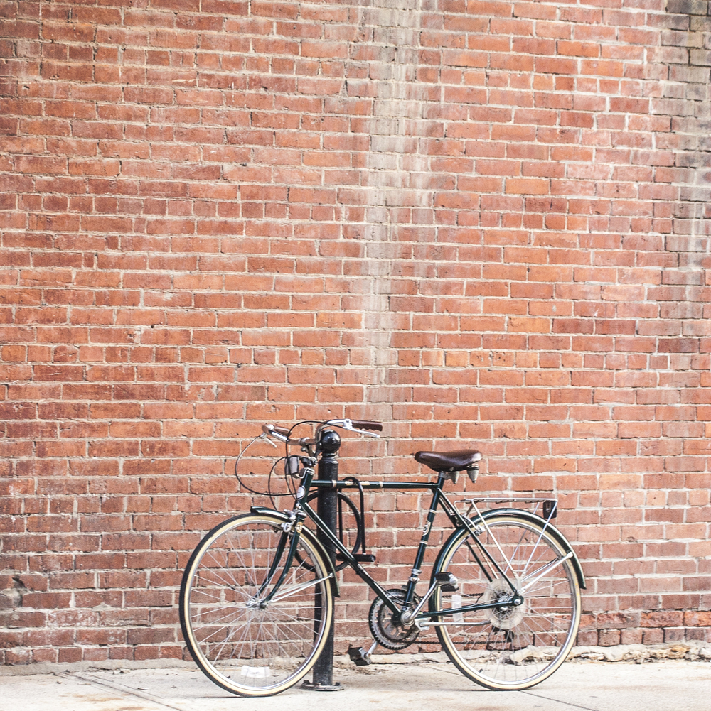 bikes and brick walls.