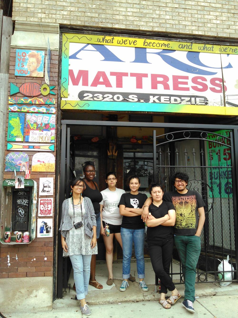 From left to right: Amara Betty Martin, Jenese Jackson,Erica Sanchez, Sara Cortez, Rosa Rodriguez and Jhonatan Carbonell.