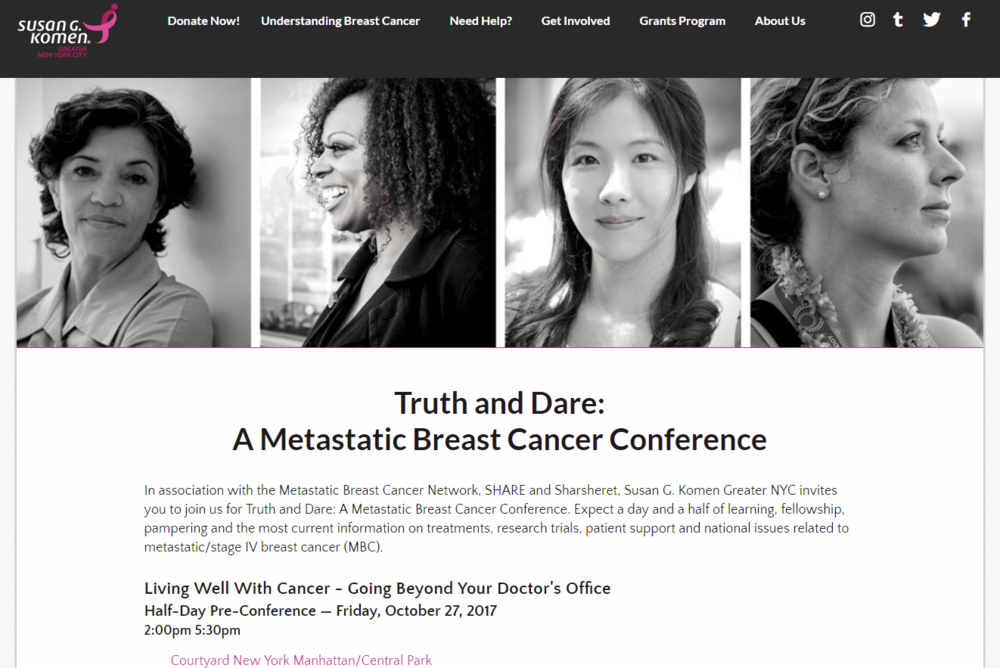 Truth and Dare: A Metastatic Breast Cancer Conference