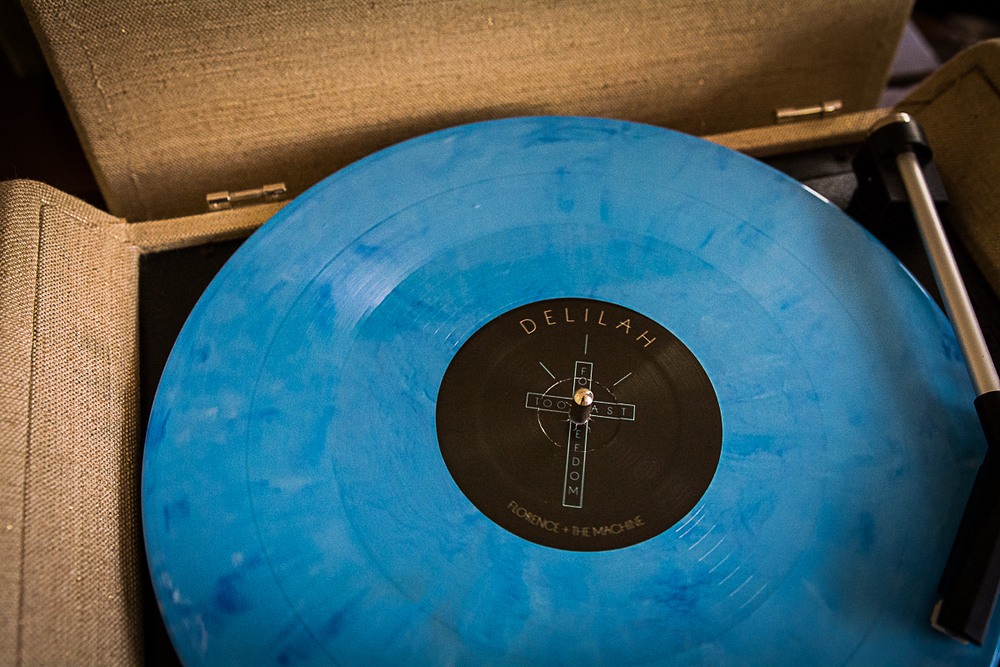 Florence + the Machine's 'Delilah' record - I'm a diehard so yeah bought this pretty blue thing