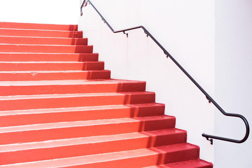 random red steps lol