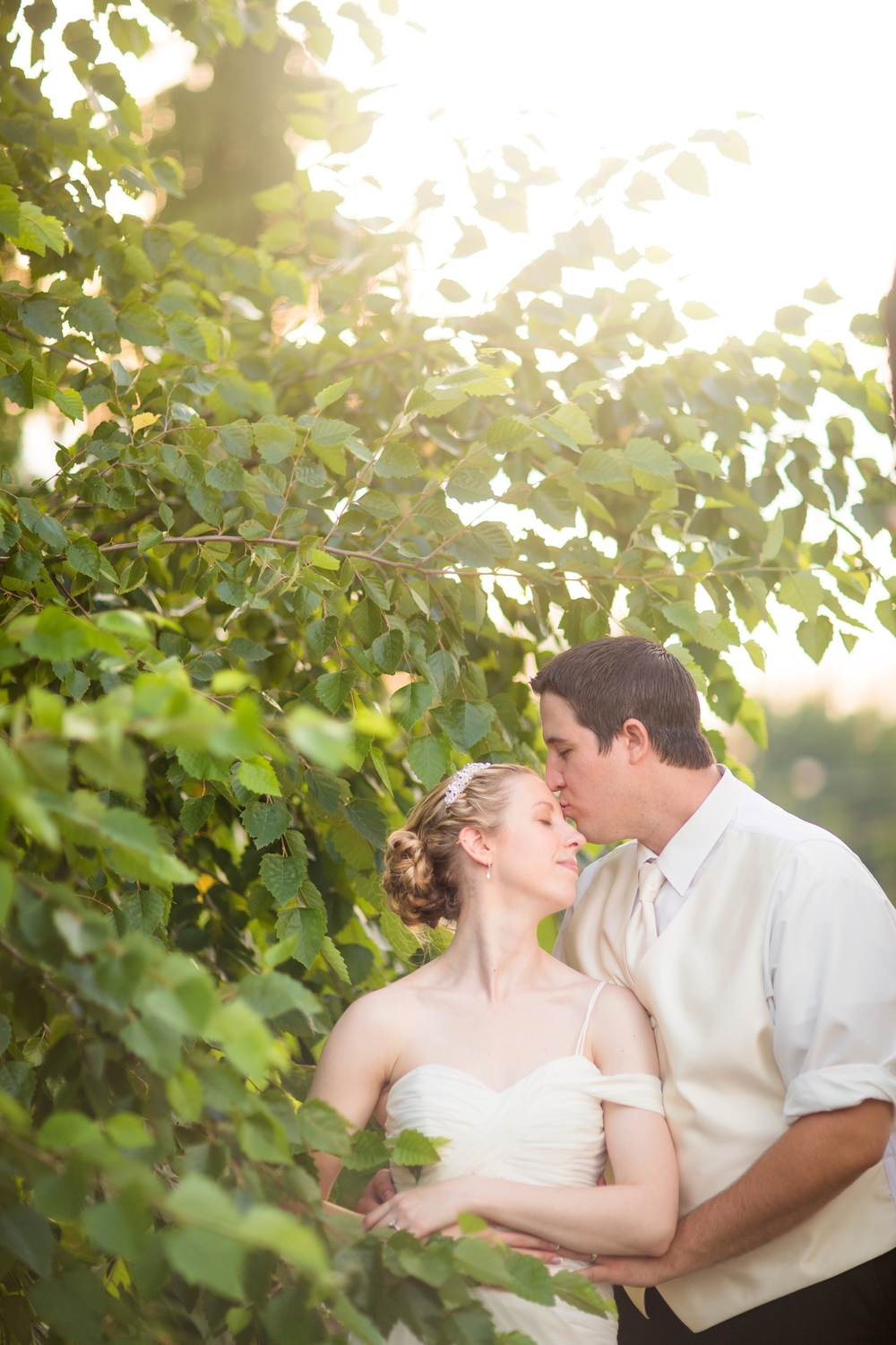 We were able to sneak Debra and Zach outside for a second round of photos during golden hour - the light was killer!