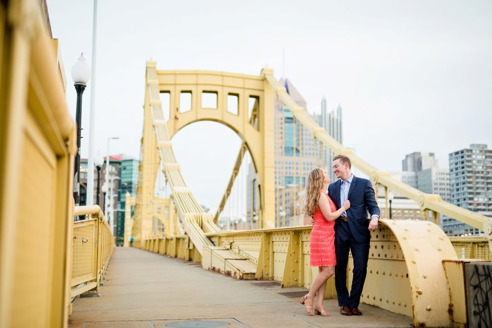 north shore engagement photos, allegheny commons park, mexican war street engagement photos, downtown pittsburgh engagement pictures