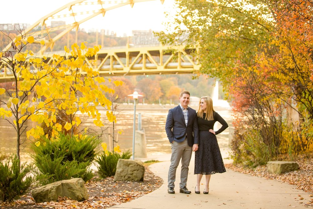 pittsburgh wedding photographer, pittsburgh engagement photos, best spot in pittsburgh for photo shoot, highland park engagement pictures, point state park engagement photos