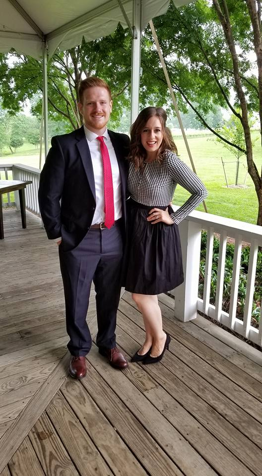 This is Nick and I ATTENDING a wedding! We had so much fun!