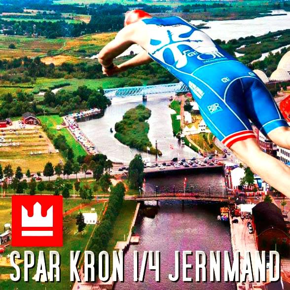 SPAR KRON 1/4 JERNMAND Unik oplevelse i hjertet af Randers med svømning i Gudenåen, Danmarks eneste flod