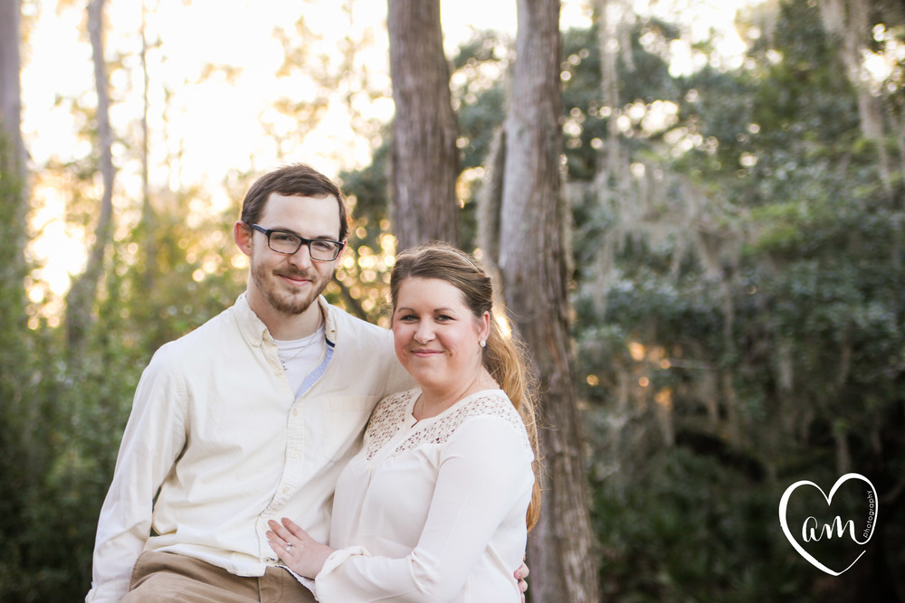 Happy couple get their sweet and natural engagement photos done in Kissimmee