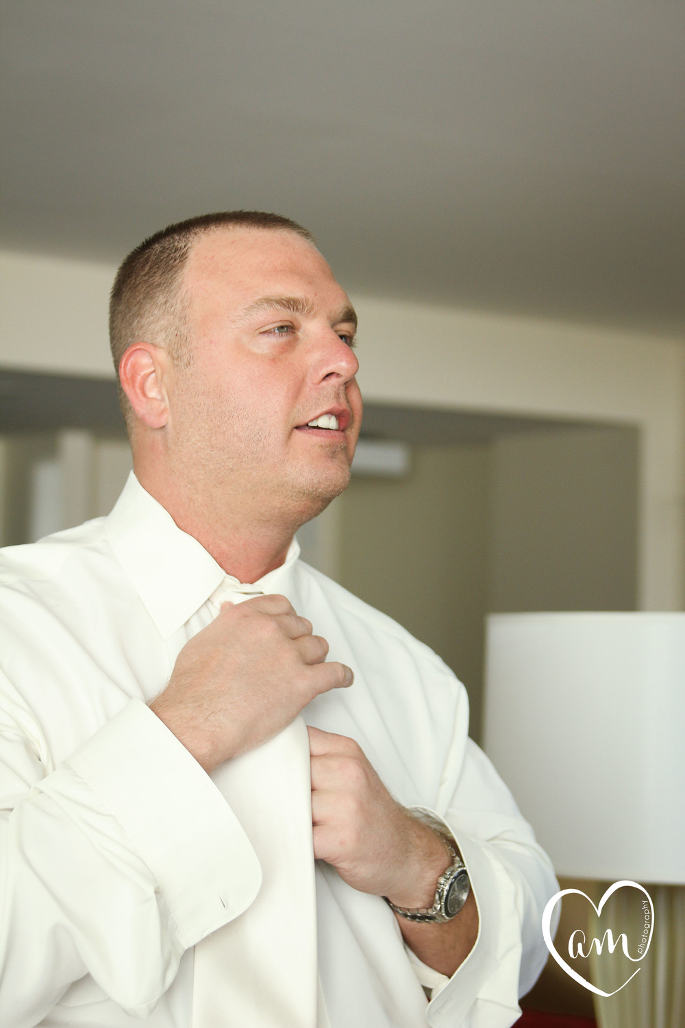 Groom gets ready for romantic Orlando wedding