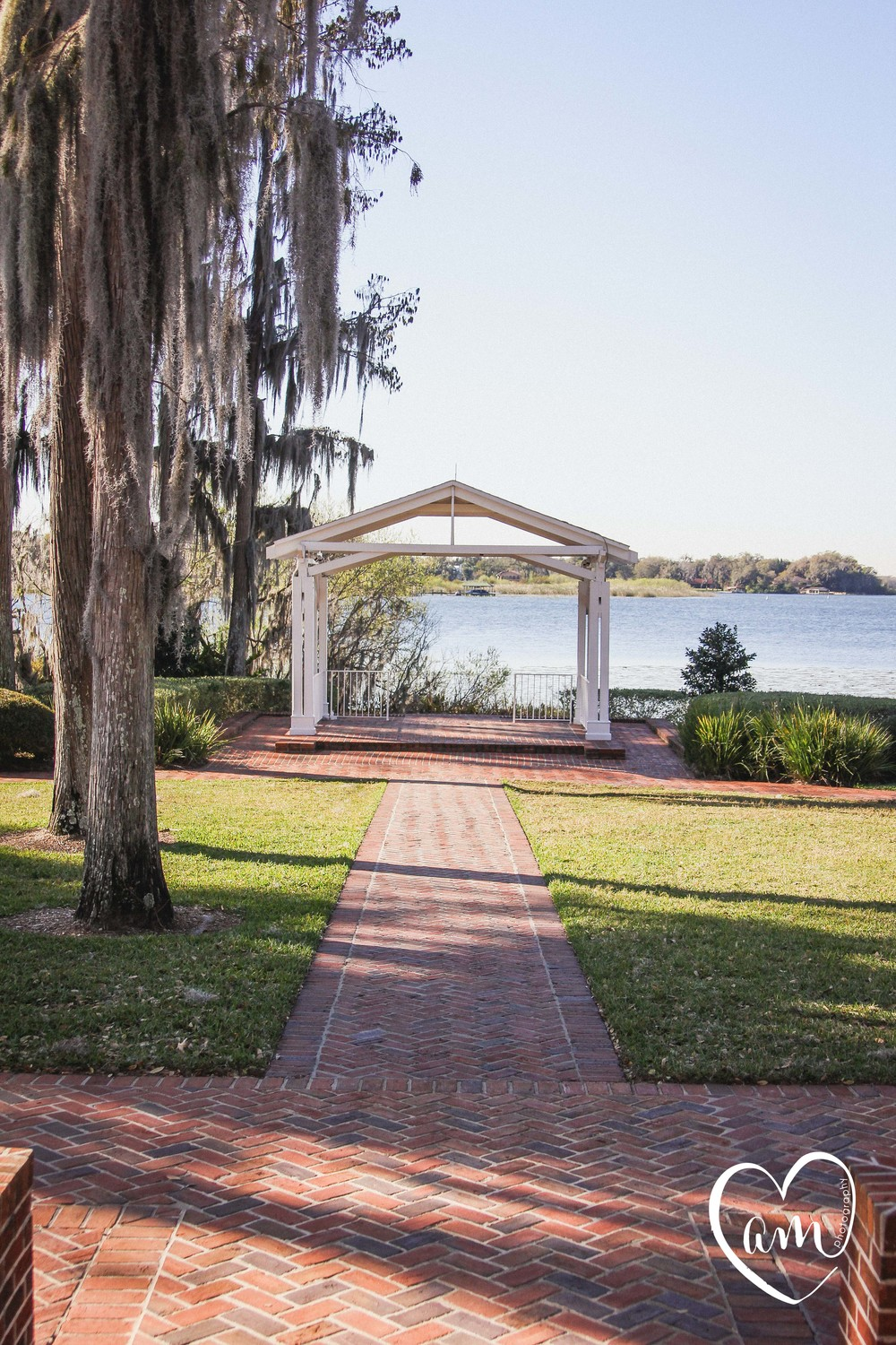 Cypress Grove Estate House wedding ceremony aisle
