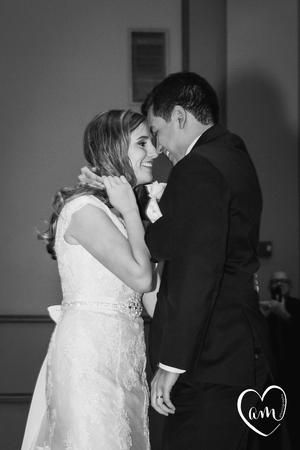 Bride and Groom first dance at Kissimmee Wedding. Photo by Amanda Mejias Photography