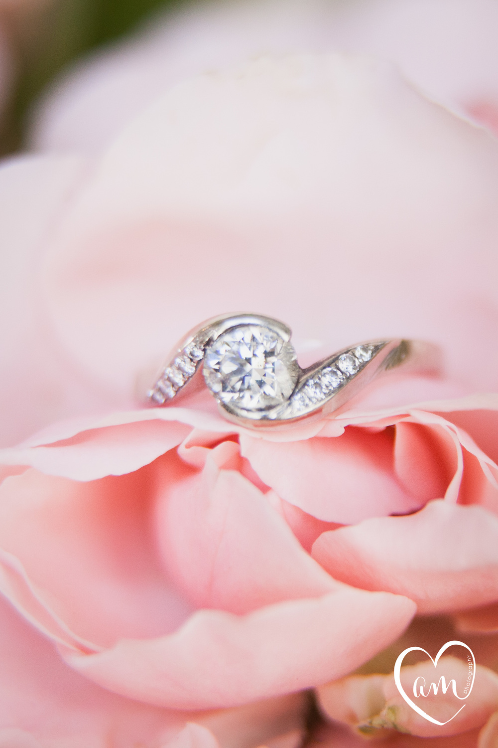 Engagement Ring photographed by Florida Destination Wedding Photographer