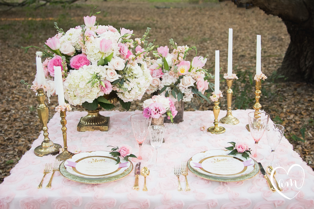 Pink sweetheart table photographed by Florida Destination Wedding Photographer